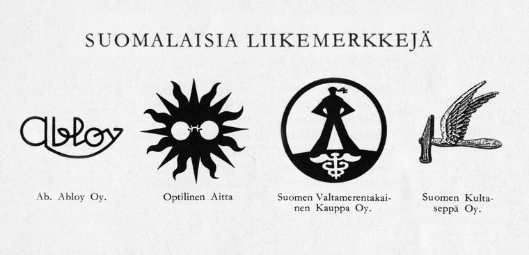 Logosuunnittelu Liikemerkki Logo Suomi Historia